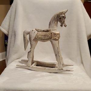 Wooden Rocking Horse Figure